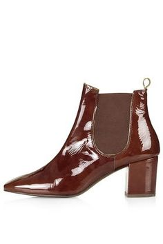MARY '60s Patent Chelsea Boots