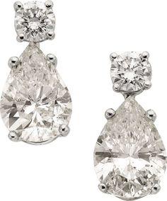 Earrings, Diamond, White Gold Earrings. #TuscanyAgriturismoGiratola