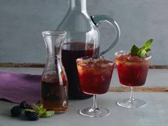 Get Blackberry-Bourbon Iced Tea Recipe from Cooking Channel