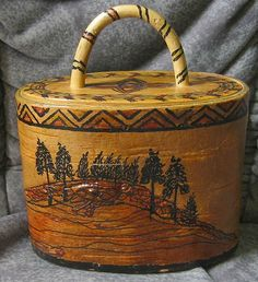 Swedish birch bark box