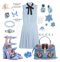 """""""Untitled #40"""" by lerazemnew ❤ liked on Polyvore featuring Gucci, Sydney Evan, David Yurman and Shaun Leane"""