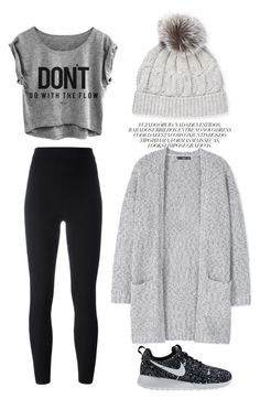 """""""Beanie, beanie, beanie"""" by chase-stars ❤ liked on Polyvore featuring Sofiacashmere, adidas Originals, MANGO and NIKE"""