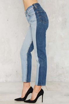 After Party Vintage Levi's 501 Jeans - Reverse Tonal - Clothes | After Party | Feminine Utilitarian | Best Sellers | Skinny