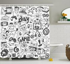 Video Games Shower Curtain Set by Ambesonne, Black and Wh... https://www.amazon.com/dp/B01MQKIFSZ/ref=cm_sw_r_pi_dp_x_Yxavzb9N6NAW3