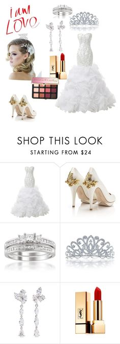 """""""white wedding 🌬❄️"""" by im1999 on Polyvore featuring HARRIET WILDE, Montebello Jewelry, Bling Jewelry, Anyallerie, Yves Saint Laurent and Sephora Collection"""