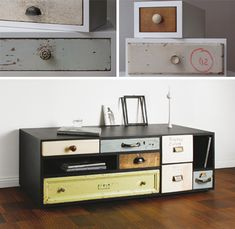 making a new case to fit an assortment of old dressers: interesting idea.  not sure it is worth the effort, but I like the look.
