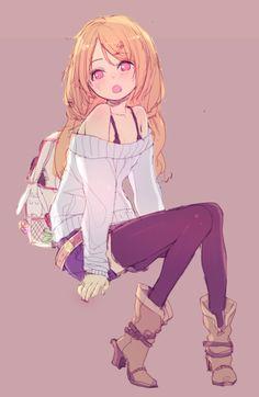 anime, anime girl, manga, purple, cute, kawaii, and cute image