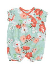 $30 Charlotte Shortall (Romper)  What a cute shortall (romper) for the spring and summer time! The Charlotte print by Angel Dear is definitely a must-have. It's super soft and made up of 100% cotton jersey.