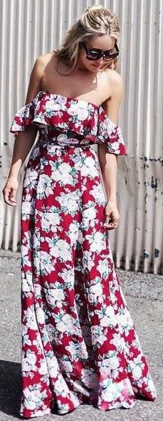 #summer #revolve #clothing #outfits | Floral Maxi Dress