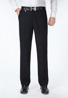 Men's Classic Silk Dress Pants