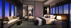 Lalu Hotel and Mixed Use Development, Nanjing China - SCDA Architects Guest Bedroom Decor, Large Bedroom, Guest Bedrooms, Modern Bedroom, Home Building Design, House Design, Villa Luxury, Scda Architects, Parents Room