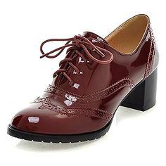 feda7b8394 Lace up Platform Pumps Shoes Oxfords Shoes Women Spring Fall Women Pumps  Shoes Soft PU Leather Women High Heels Casual Shoes