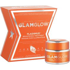 GlamGlow Flashmud Brightening Treatment 1.7 oz (50 ml) ($69) ❤ liked on Polyvore featuring beauty products, skincare and face care
