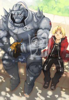 FMA - Edward & Alphonse Elric Elric Brothers, Alphonse Elric, Roy Mustang, Edward Elric, Fullmetal Alchemist, Black Butler, Attack On Titan, Otaku, Geek Stuff