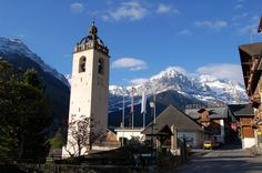 Champéry, Switzerland - charming little town near the town of Zermatt and the Matterhorn