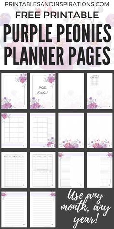 Printable blog planner blogging planner blog organizer social free printable purple planner and october bullet journal weekly monthly and more pretty planner templates for your binder or bullet journal maxwellsz