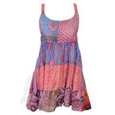 Vagabond Patchwork Mini Dress on Sale for $24.95 at HippieShop.com