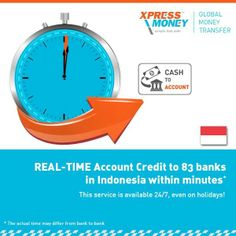 Remit Money to directly to the  Bank Account  of 83 Banks in Indonesia within Minutes