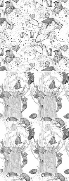 so many bears! :: pencil gray [Ana Laura Perez]