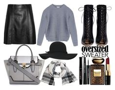 """Oversized"" by mollie-simmonds ❤ liked on Polyvore featuring Gianvito Rossi, Acne Studios, River Island, Miss Selfridge, Bobbi Brown Cosmetics, Armani Beauty, Dolce&Gabbana and Bourjois"