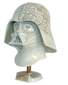The force is strong in this one.... Well done Oliver Jeffers!  In celebration of the Star Wars 30th Anniversary he customized a Darth Vader helmet, turning it into a phrenology head.  While it's not a product you can buy, maybe it can inspire your inner artist.  Geek Chic factor of 10 to the second power!