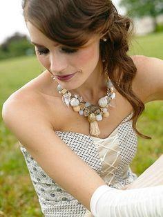 Bridal Statement Jewelry Pearl Bridesmaid Necklace by Czolori Statement Jewelry, Pearl Jewelry, Bridal Jewelry, Wedding Accessories, Fashion Accessories, Non White Wedding Dresses, Pearl Necklace Wedding, Ivory Pearl, Baroque Fashion
