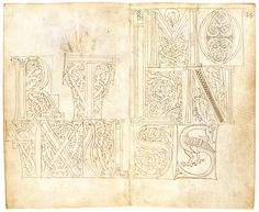 Model Book of Initials (2) | Pen and Parchment: Drawing in the Middle Ages