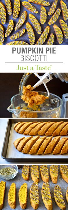 Pumpkin Pie Biscotti #recipe via justataste.com