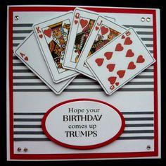 Masculine Birthday Cards, Birthday Cards For Men, Funny Birthday Cards, Handmade Birthday Cards, Masculine Cards, Male Birthday, Diy Playing Cards, Uno Cards, Bridge Card