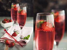 strawberry mocktail with recipe