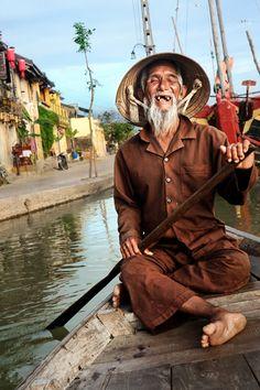 ˚Vietnamese Boatman - Asia