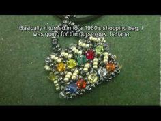 Purse (sort of)  pendant with swarovski and miyuki beads deco tutorial.
