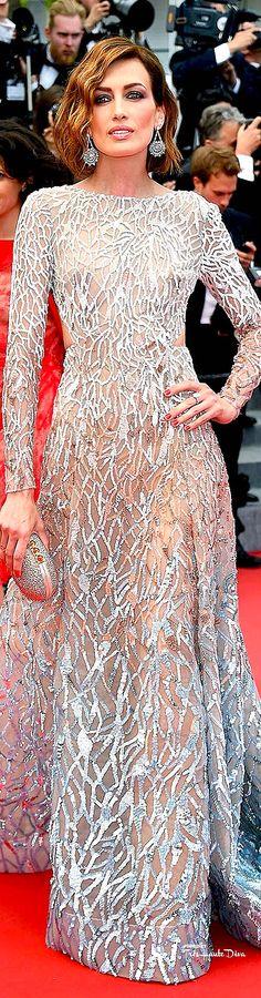 #Nieves #Alvarez in Elie Saab Couture♔ Cannes Film Festival 2015 Red Carpet ♔ Très Haute Diva ♔