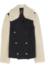 McQ Alexander McQueenTwill and shearling coat fall 2013