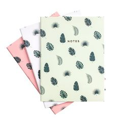 Tropical Leaves Notebook Set