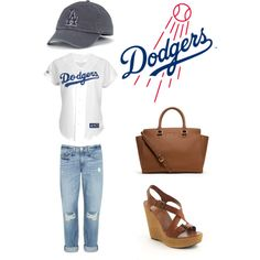 """""""Home Run in Dodgers Stadium"""" by lids4hats on Polyvore"""