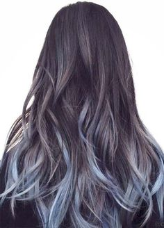 Blue Denim Hair Colors: Touch of Baby Blue Ombre