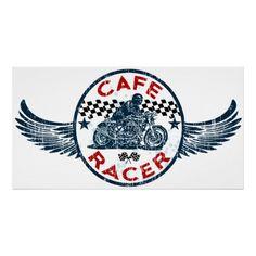 Moto Cafe racer #Poster #illustration #caferacer | caferacerpasion.com