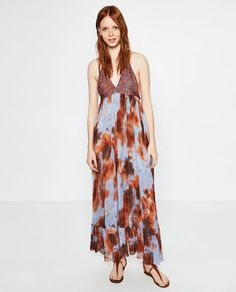 Zara Tie Dye Maxi Dress December 2017