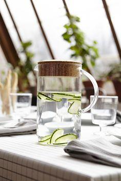 Água com aroma a frescura. #jarros #decoração #IKEAPortugal