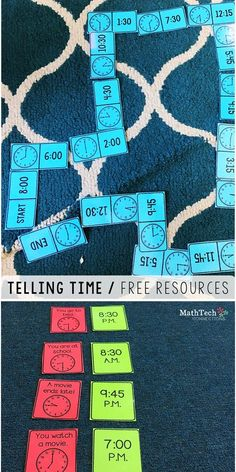 telling time resources, telling time math games and activities, beginner telling time centers, free time assessments, free time to the hour quiz