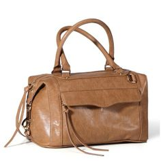 Rebecca Minkoff Mab Mini Tan Bag With Gold Hardware