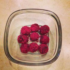 Romantic Raw Raspberry Walnut Carob Truffles #valentinesday