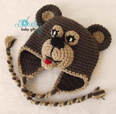 Crochet Animal Hat Patterns For Kids. Resultado de imagen para gorros de  ganchillo ... 70064af9695