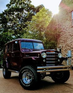 My 1951 Willys Overland Wagon. Willys Wagon, Jeep Willys, Triumph Motorbikes, Jimny Suzuki, Military Jeep, Old Vintage Cars, Old Jeep, Jeep Pickup, Trucks And Girls