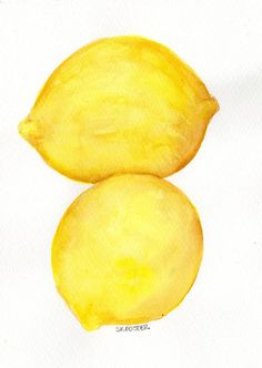 Original  Lemons  Watercolor Painting Fruit by SharonFosterArt, $15.00