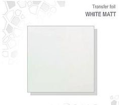 Transfer Foil - white MATT WHITE TRANSFER FOIL £2.50 www.susansnailstore.co.uk  CHECK OUT OUR MIX&MATCH OFFER ON TRANSFER FOILS!