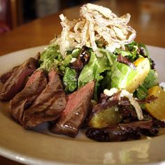We will be closing at 3pm today for our staff holiday party...but you still have time to come in and enjoy lunch! #5Spot #GrilledSteakSalad #QueenAnneHill #EatSeattle #PNW #Steak