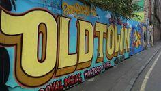 Old town board - Edinburgh