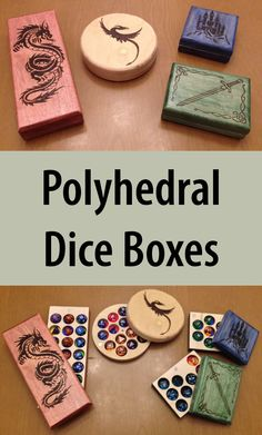 Attention, tabletop gamers: Check out these finely crafted handmade boxes, designed to hold a D4, D6, D8, D12, D20, and more. Pretty sweet.
